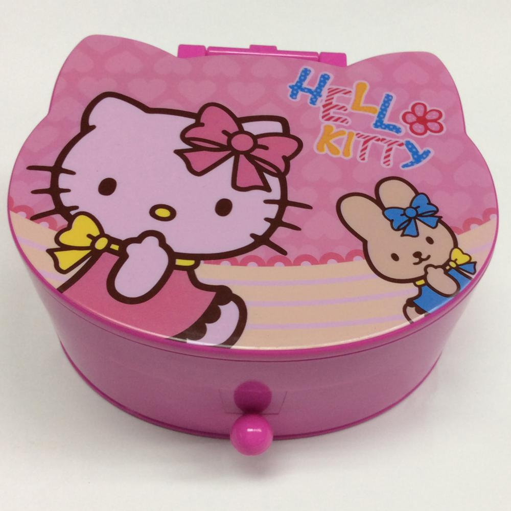 Pink Jewelry Box With Mirror