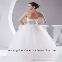 New Arrival Wedding Dress Tulle Transparent Sexy Waist Robe