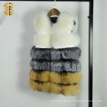 Piel genuina verdadera Gilet de Fox del chaleco del chaleco de la piel de Fox del 100% para las mujeres