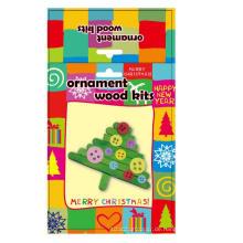 Kinder Dekoration Holz Große Eis am Stiel Weihnachtsbaum Zubehör handgemachte Ornament DIY Handwerk Kit