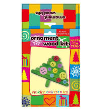 kids decoration wooden Great Popsicle christmas tree accessories handmade ornament DIY craft kit