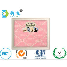 fabric boards with white frame