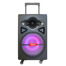 """12"""" Portable Battery Powered PA Speaker, Built in EQ Rechargeable Battery, Bluetooth, MP3, USB, SD, Wireless Microphones F12-5"""