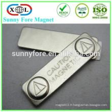 45 * 13mm bloc magnet souvenir avec adhésif 3M