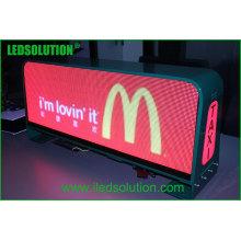 Signe supérieur de taxi de LED pour l'affichage à LED De dessus de taxi de publicité dynamique