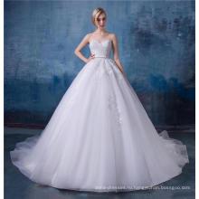 Великолепные вышитые свадебное платье милая 2017