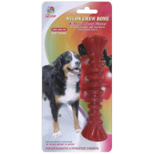 "Percell 6 ""Nylon Dog Chew Spiral Bone Rasberry Geur"