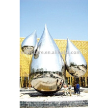 Modern Large Famous Arts Abstract Polished Stainless steel Sculpture for garden decoration