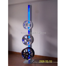 Metal Rack Tire Rack Tire Stand In Up, Metal Floor Illuminating 3 Tier Truck Tire Display Rack