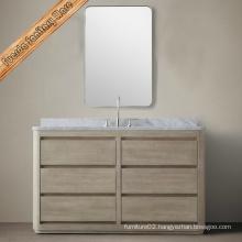 Fed-203 Transitional Oak Veneer Solid Wood Bathroom Vanities