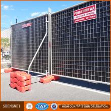 Paneles de valla temporal de relleno de malla de venta caliente 60X150mm