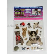 Собаки и кошки стикер эпоксидной смолы