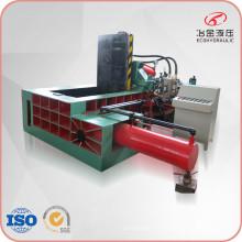 Machine de pressage automatique de chutes de copeaux métalliques à refoulement latéral