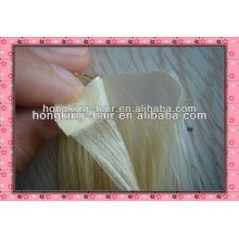 Indian remy hair tape weft , skin weft hair extension