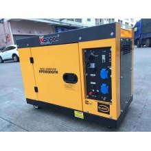 Kp9500dgfn Kanpor 7kw 7.5kw 50Hz / 7.5 Kw 8.5kw 60Hz Silent Soundproof Air Cool Portable Diesel Generator, New Super Silent