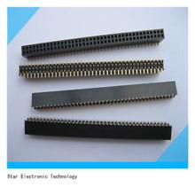 China Fábrica 1.27mm Passo Feminino Dupla Linha Pin Header