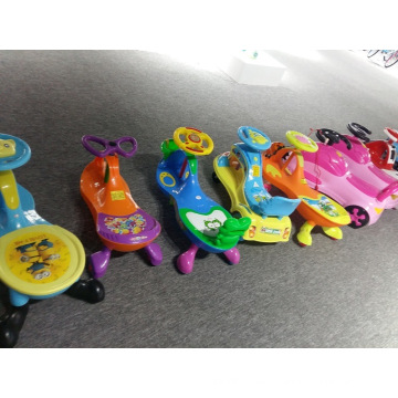 New Product 2017 Twist Car PU Wheels/Kids Garden Swing Car with 2 Seats/High Quality Swing