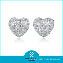 Best Selling 925 Silber Herz Ohrringe