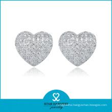 Wholesale Sterling Silver Stud Earrings in Factory Price (E-0006)