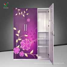 different color steel painting almirah designs with price