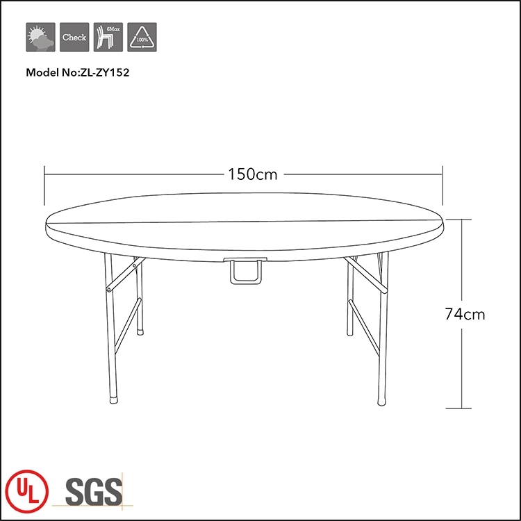 "60"" Round Portable Table"