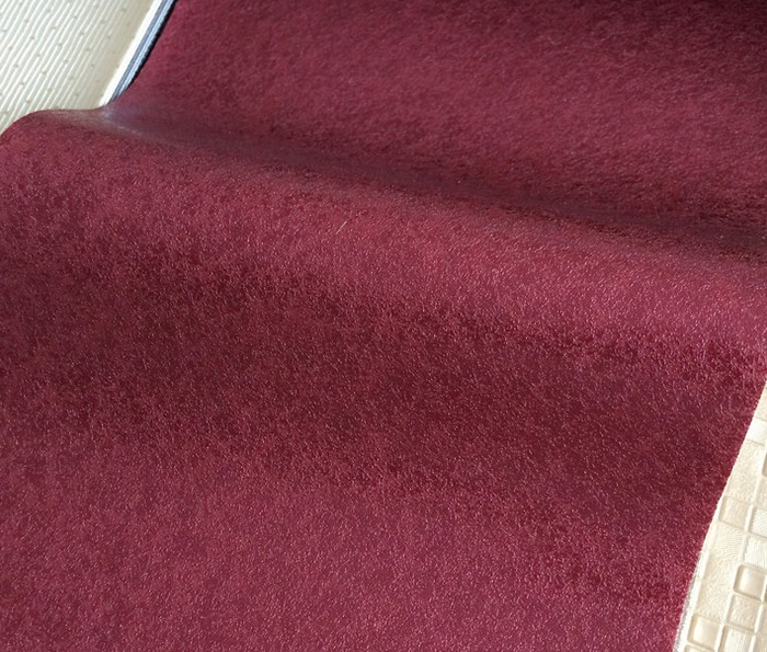 dark red-Plain line furniture decoration semi PU