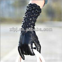 2013 Guantes de brazo negro de mangas elásticas de gama alta