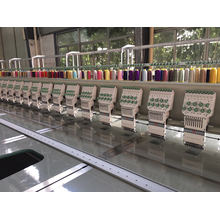 28 Head 9 Colors Flat Embroidery Machine