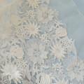 Luxury Wedding Dress Lace Embroidery Flower Leaf