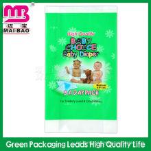 100% Biodegradable pe printing poly packing baby diaper bags