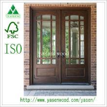 Patio / Frente Puerta de madera francesa (puerta de madera)