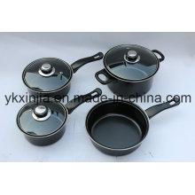 Panelas de aço de carbono 7pcs não-stick pan set utensílios de cozinha
