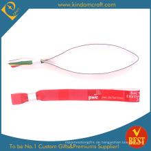 Kundengebundene Art und Weise gesponnene Gewebe-Armbänder mit Verschluss (KD-0485)