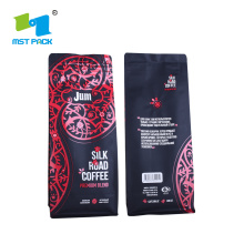 Biodegradable Flat Bottom Ziplock Coffee Pouch