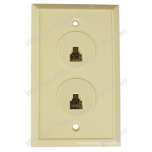 Us Style Dual Port Telehone Jack Wallplate