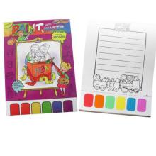 niños llenando libro pintura al agua colorear libro imprimible