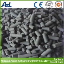 Carbono activado por recuperación de solvente orgánico
