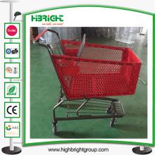 Trole plástico de Plasic do carrinho de compras do supermercado da capacidade 180L grande