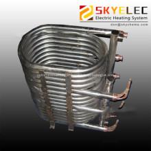Titanium immersed coil type heat exchanger