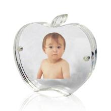 Apfel geformte Acryl-Foto-Rahmen-Anzeige, Perspex-Foto-Anzeige