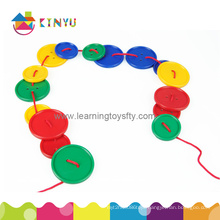 Educational Toy / Plastic Lacing Attribute Buttons Toy