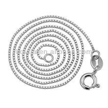 Atacado moda 925 corrente de prata esterlina