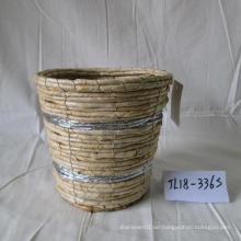 Runder Maisseil-Blumentopf