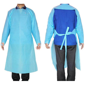 CPE isolation gown PE apron Isolasi apron