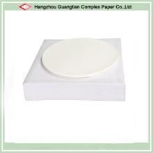 Círculos redondos do papel de pergaminho do silicone de 10 polegadas