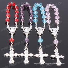 Gemischte Farbe 4 * 6mm Spitze Kristall Perlen religiösen Handwerk