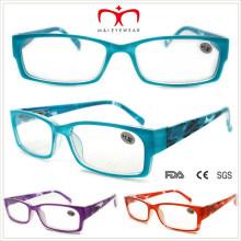 Señoras lentes de lectura de plástico con patrón floral (wrp508338)