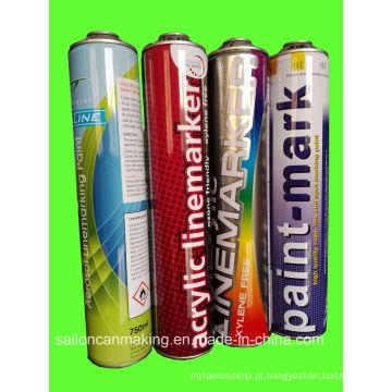 Latas de lata de aerossol para spray de marcação de linha (750ml de alta pressão)