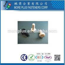 Hecho en Taiwán Tornillo de plástico cabeza de la cabeza MPF tornillo de plástico