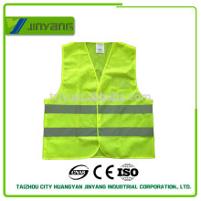 clásico EN20471 reflectante malla seguridad chaleco con bolsillo pvc